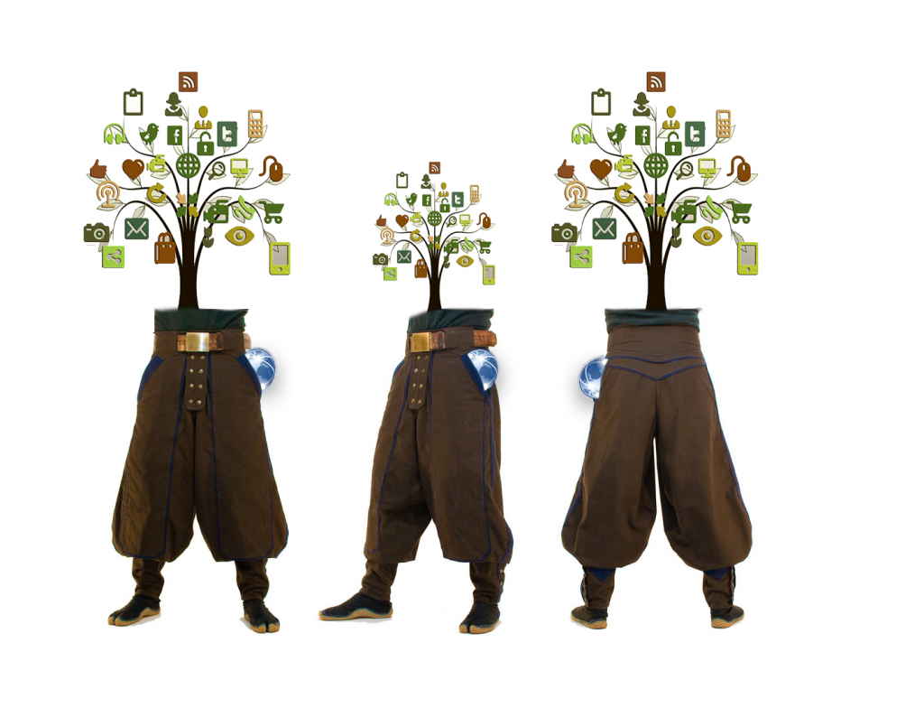 Human Tree with internet in the pocket